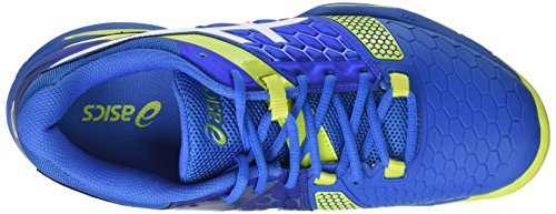Asics Gel-blast 7, Chaussures De Handball Hommes Blanches (directoire Bleu / Vert Energie / Blanc)
