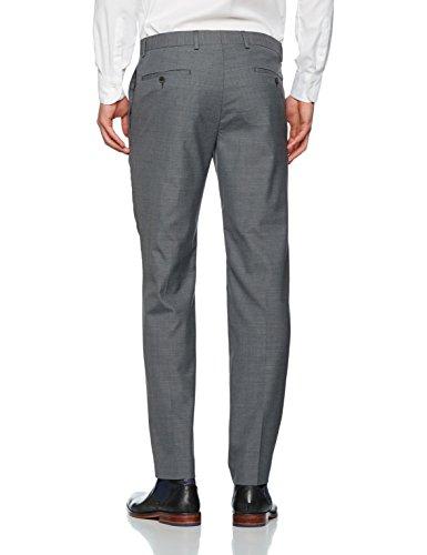 s.Oliver BLACK LABEL Hose Lang, Pantalon de Costume Homme Grau (grey/black Stripes 98g1,grau)