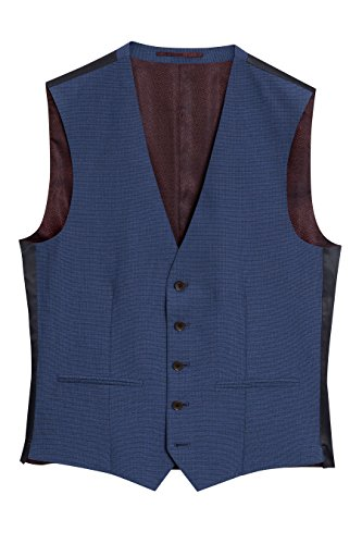 next Herren Signature Texturierter Anzug: Weste Strahlend Blau EU 107 Regular (UK 42R) -