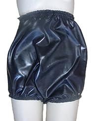 Pantalons en caoutchouc / culotte / culotte bords élevés / ceinture noire Silicone / mélange de Latex