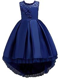 2452a082c Vestido de Fiesta para niñas Vestido de Dama de Honor de Fiesta de Princesa  Formal Vestido