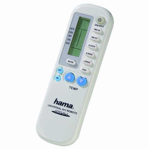 Hama Mando A/C Universal II IR Wireless Push buttons White - remote controls (IR Wireless, White, Air conditioner, Universal, Push buttons, LCD) por From Hama