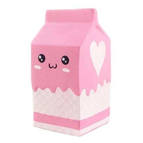 Juguetes de compresión,Beikoard Botella de yogur blando aromatizado blando lento levantamiento Squeeze juguetes colección Jumbo (los 11.5 * 6cm, Multicolor)
