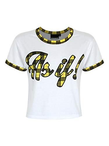 Women's Clueless As If Crop Top White