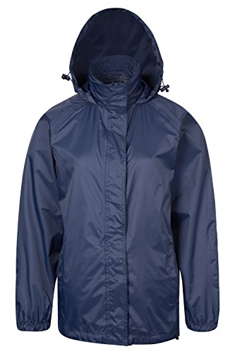 Parallel Womens Pakka Waterproof Foldable Jacket Pack Away Rain Coat NAV 12