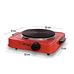 Sheffield Classic Electric Stove Hot Plate Cook-top 1500 watts SH-2001-Black (Red)