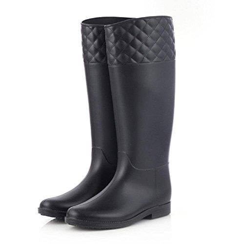 Mode-Frauen rutschfeste Umweltschutz Regen Stiefel Black