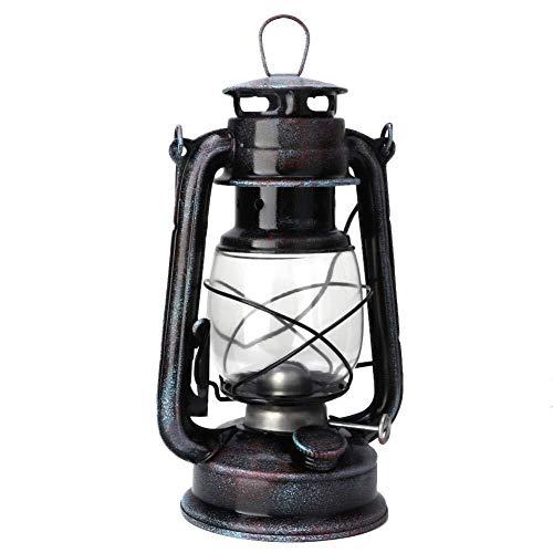 XRYDLL Öllampen Vintage Kohle Öllampe 24cm Kerosin Anhänger Laterne Retro Nostalgie Lampe Tragbare Outdoor Camping Lampe Eisen Kunst
