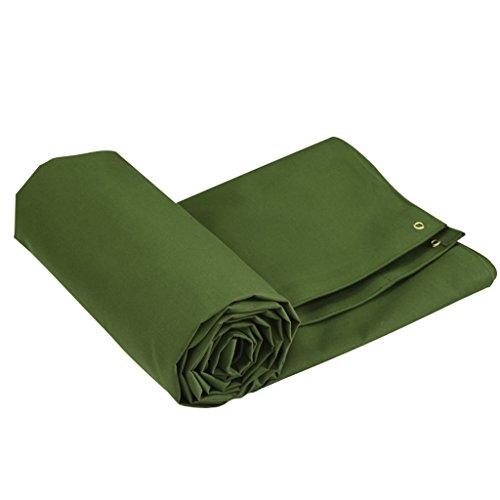 Li Li Na Shop lona impermeabilizante Tela gruesa a prueba de agua sombra cortina paño Camión lona alta sombra paño Al aire libre viejo poncho de lona (Color : Green, Size : 400cm*400cm)