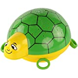 ANSMANN Sternenlicht Schildkröte LED Sternenhimmel-Projektor Nachtlicht Lampe Einschlafhilfe für Baby/Kinder/Erwachsene Kinderzimmer Schlafzimmer - Höchste Kindersicherheit [mit Schlummerlied Musik]