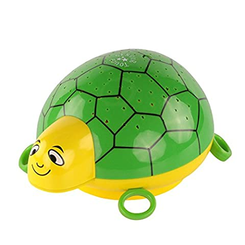 ANSMANN Child's LED Nightlight Turtle with starlight projection onto walls and ceilings in darkness, colour changing setting, ideal for kid's bedroom as great sleeping aid - babies / children / adults -