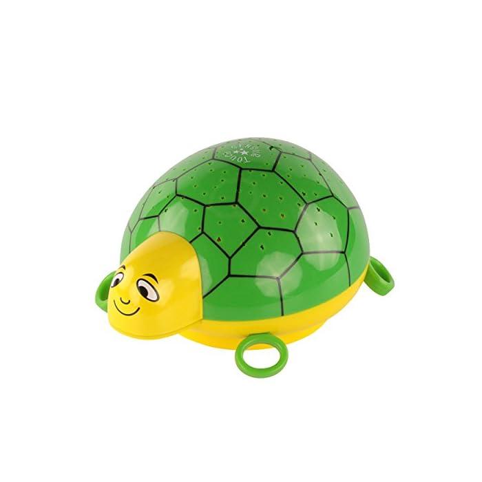 ANSMANN Sternenlicht Projektor - Schildkröte Nachtlicht mit Musik & Sternenhimmel Projektor ideal als Einschlafhilfe für…