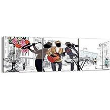 Cuadro sobre lienzo - 3 piezas - Impresión en lienzo - Ancho: 150cm, Altura: 50cm - Foto número 2933 - listo para colgar - en un marco - CA150x50-2933