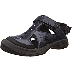 Woodland Men's Navy Leather Sandals and Floaters - 8 UK/India (42 EU)