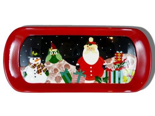nowman, Owl, & Santa 17 Treat Tray by Christmas Cut ()