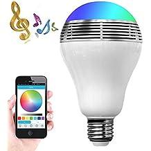 Smart LED Lampadina altoparlante Bluetooth, zonv 3W E27/B22lampada RGB Wireless Stereo Audio Smartphone controllata dimmerabili multicolore luci che cambiano colore per iPhone, iPad, telefono Android, Tablet