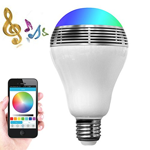 el Lautsprecher Ostern Geschenk,Dimmable Smart WiFi Farbige Musik Lampe E27/E26 RGB Wireless LED Nacht Licht iPhone IOS,Android APP Controlfor für Haus, Stadium, Partei Dekor ()