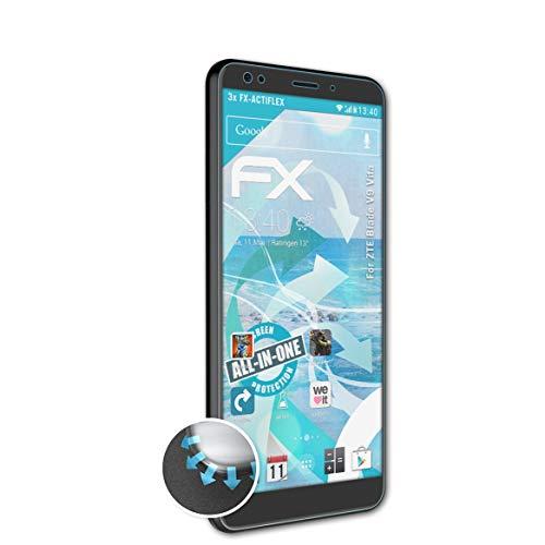 atFolix Schutzfolie passend für ZTE Blade V9 Vita Folie, ultraklare & Flexible FX Bildschirmschutzfolie (3X)