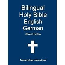 Bilingual Holy Bible English German (English Edition)
