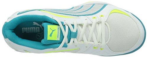 Puma Ballesta Wn'S, Chaussures de fitness femme Blanc (White/Metallic/Blue/Yellow)