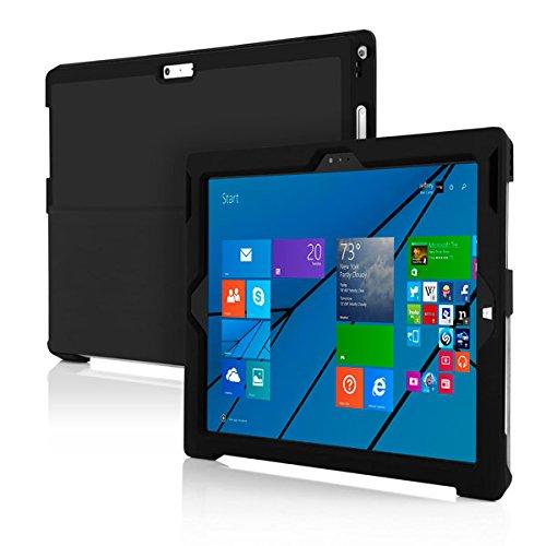 Tg-kick (Incipio Feather [Advance] Extrem Dünne Folio Schutzhülle mit Kickstand Kompatibel mit Microsoft Surface Pro 3 - Schwarz)