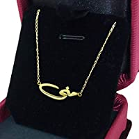 18K Gold Catenary with Necklace Mona name