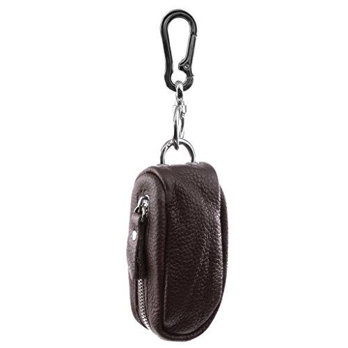 Etuis porte-clés Pochette Zippé Unisexe en Cuir PU pour Clé/ USB/ Pièces/ Monnaie
