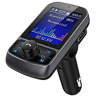 Nulaxy Bluetooth FM Transmitter Auto Radio Adapter 4,6