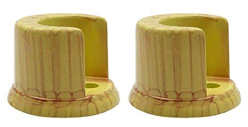 beige-drapierung-vorhang-rod-halter-kunststoff-single-pole-wandhalterung-packung-mit-2-stuck