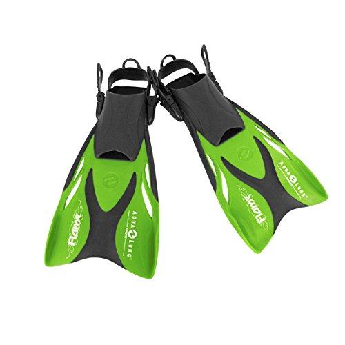 Aqua Lung Schwimmflossen Flame jun. für Kinder L/XL, grün, Größe 33-36