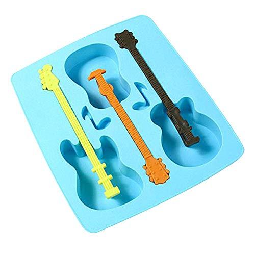U.Expectating Paw Schneeflocke Eisformen Popsicle Formen, Paw Schneeflocke Form Eiswürfelform Wiederverwendbaren EIS Würfel Schimmel (Blau) (Gitarre)