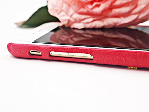 Apple Iphone 6 6S Hülle Nnopbeclik® TPU+PC Ultra Slim Silikon Schutzhülle Hard Back Cover Case, 3D Deckel mit Spitze Stickerei Lace Embroidery Rosa Luxus Schutzhülle Muster Full Protective Glänzend Kr Rot+Gelb Blume