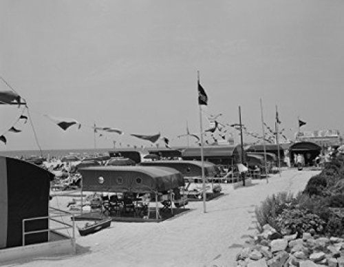 USA New Jersey Atlantic City Cabanas of Shelburn Hotel Poster Drucken (45,72 x 60,96 cm)