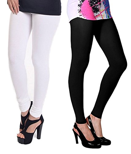 Vatsla Women's Cotton Leggings Combo (Pack of 2) (VHMJ2CMBFree Size_Multi Color)  available at amazon for Rs.199
