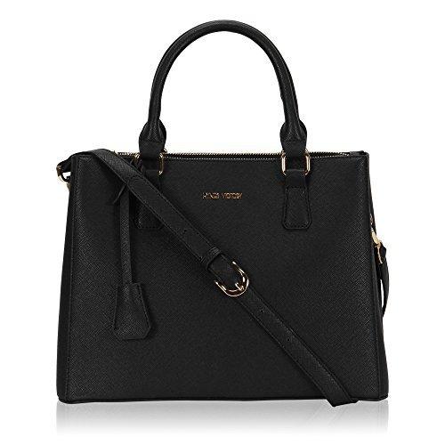 Veevan Damen Elegant Handtaschen Schwarz