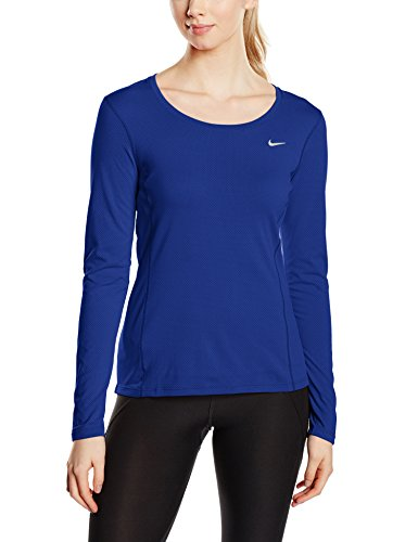 Nike Damen Langarm Shirt Dri-Fit Contour, Deep Royal Blue, S, 644707-455