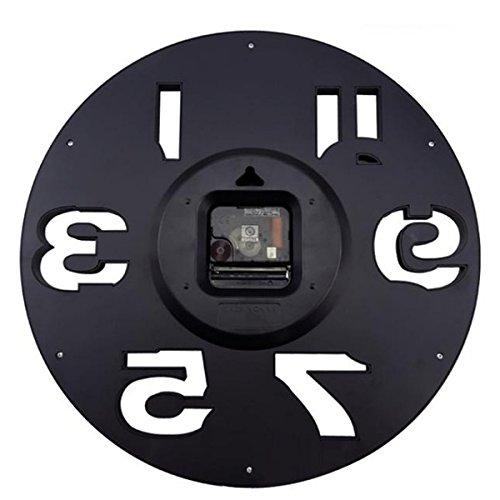 _ WINOMO Novità traforate 3D grandi cifre cucina Home Office Decor tondo orologio da parete a forma di orologio Art (nero) lista dei prezzi