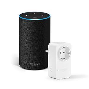 Amazon Echo (2ª generazione), tessuto antracite + Amazon Smart Plug, compatibile con Alexa