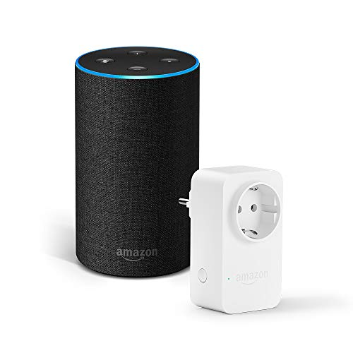 Amazon Echo (2.ª generación), tela de color antracita + Amazon Smart Plug,...
