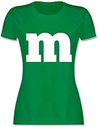 Karneval & Fasching - Gruppen-Kostüm m Aufdruck - Damen T-Shirt Rundhals