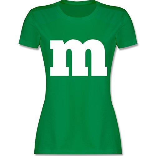 Kontakte Für Kostüm - Karneval & Fasching - Gruppen-Kostüm m Aufdruck - L - Grün - L191 - Damen Tshirt und Frauen T-Shirt