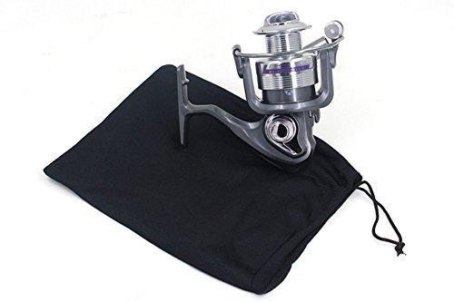2x chytaii Tasche mit Seil Schutzhülle von Angelrolle zum Fliegenfischen Schutz Decke Pflege-Angelrolle Zubehör der Fischerei schwarz