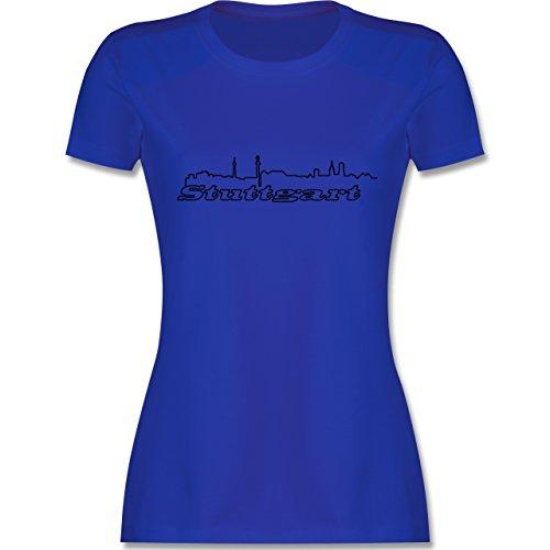Skyline Stuttgart Skyline tailliertes Premium TShirt mit Rundhalsausschnitt  für Damen Royalblau