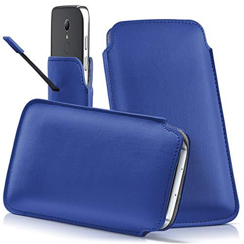 moex HP Elite x3 | Hülle Blau Sleeve Slide Cover Ultra-Slim Schutzhülle Dünn Handyhülle für HP Elite x3 Case Full Body Handytasche Kunst-Leder Tasche