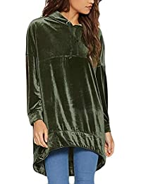 Somoll Frauen Herbst Winter Solid Velour Tops Pullover mit Kapuze Mode Sweatshirts Sweatshirts & Kapuzenpullover
