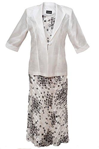 k Anzug, champagner/elfenbein–Hochzeit/Kirche/Party Formale–Größen 14/16/18/20/22/24 Gr. 22 cm, Elfenbein - Elfenbein (Womens Kirche Anzüge Unter 100)