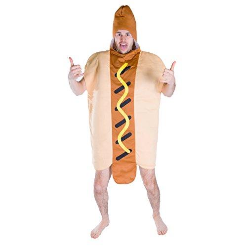 Lebensmittel & Getränke Kostüm für Erwachsene (Hot (Kostümen Hot Dog)