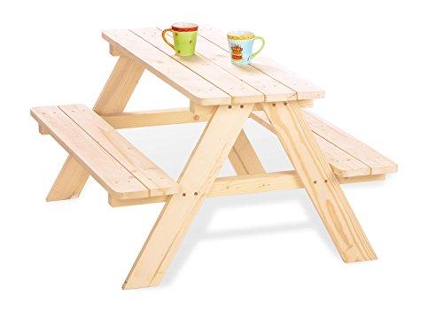 Kinder Picknicktisch Holz Natur
