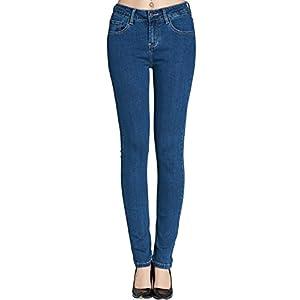 Camii Mia Vaqueros Skinny Básicos para Mujer Jeans Slim Elástico
