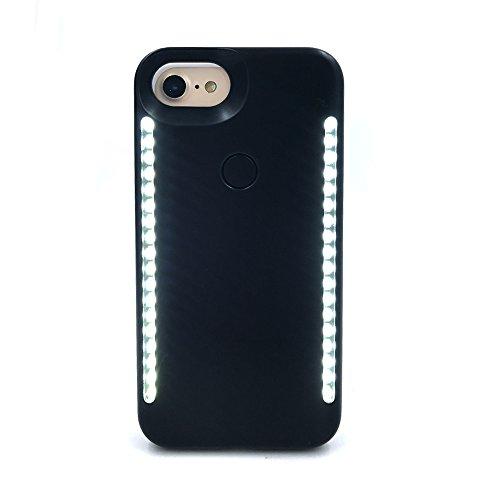 Onething à LED Selfie Coque lumineux Coque pour iPhone Iphone 6 Plus/Iphone 7 Plus noir
